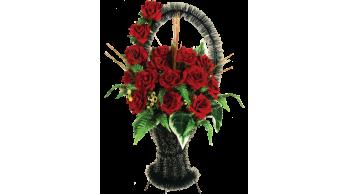 Корзины из искусственных цветов, серия: K-2