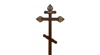 Крест сосна (темная,светлая) резной