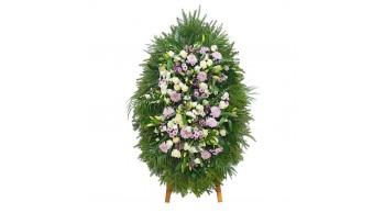 Венки из живых цветов, модель: Ж-1