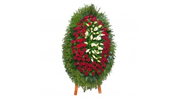 Венки из живых цветов, модель: Ж-11