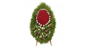 Венки из живых цветов, модель: Ж-3