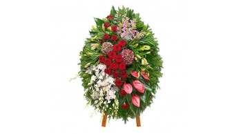 Венки из живых цветов, модель: Ж-4