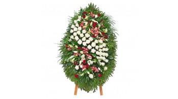 Венки из живых цветов, модель: Ж-6