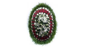Венки из живых цветов, модель: Ж-8
