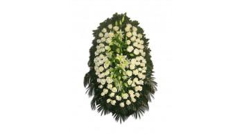 Венки из живых цветов, модель: Ж-9